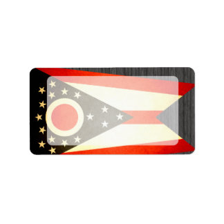 Sun kissed Ohio Flag Personalized Address Label