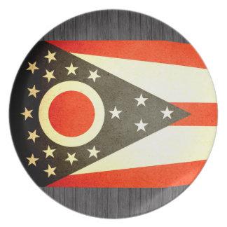 Sun kissed Ohio Flag Plates