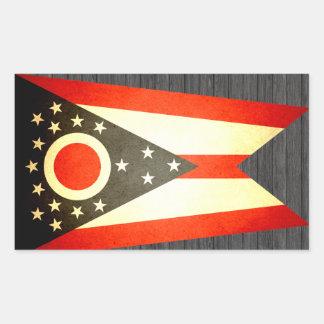 Sun kissed Ohio Flag Rectangular Sticker