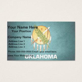 Sun kissed Oklahoma Flag Business Card
