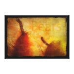 Sun-Kissed Pair of Pears Art Canvas Canvas Print