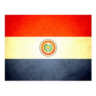Sun kissed Paraguay Flag Postcard