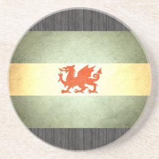 Sun kissed Patagonia Flag Sandstone Coaster