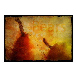 Sun kissed Pears Art Print