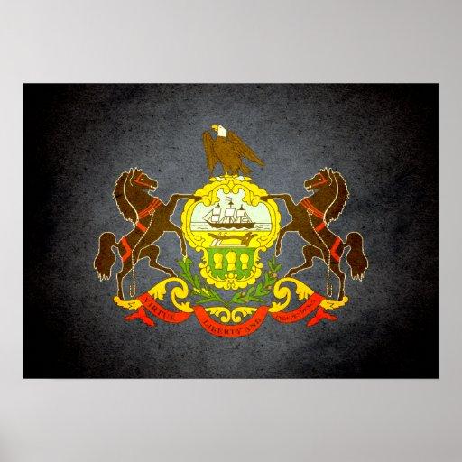 Sun kissed Pennsylvania Flag Print