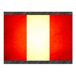 Sun kissed Peru Flag Postcard