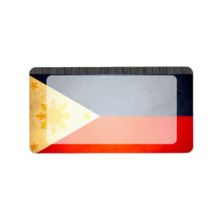 Sun kissed Philippines Flag Label