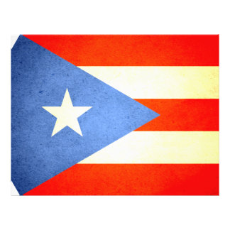 Sun kissed Puerto Rico Flag Personalized Flyer