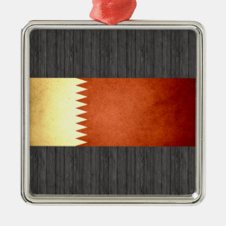 Sun kissed Qatar Flag Christmas Tree Ornaments