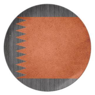 Sun kissed Qatar Flag Party Plate