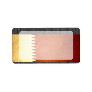 Sun kissed Qatar Flag Personalized Address Label