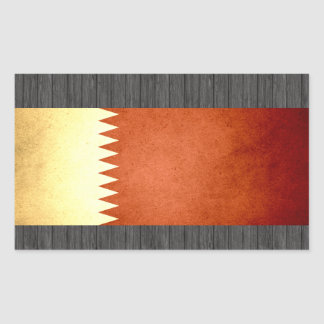 Sun kissed Qatar Flag Rectangular Sticker