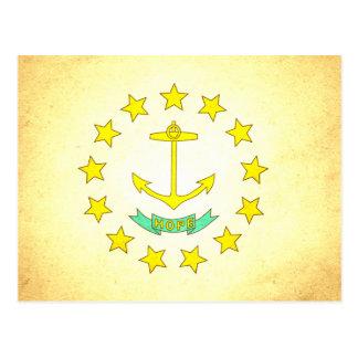 Sun kissed Rhode Island Flag Postcard