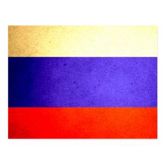 Sun kissed Russia Flag Postcard