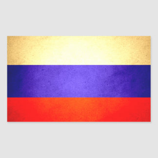 Sun kissed Russia Flag Rectangular Sticker