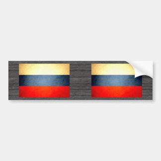 Sun kissed Russian Federation Flag Bumper Sticker