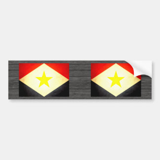 Sun kissed Saba Flag Bumper Sticker
