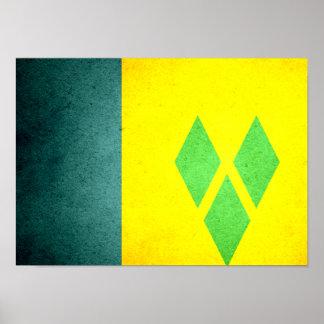 Sun kissed Saint Vincent and the Grenadines Flag Print