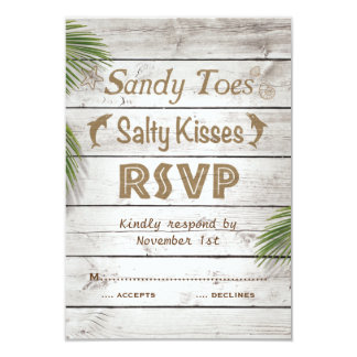 Sun Kissed Sandy Toes Salty Kisses RSVP Card