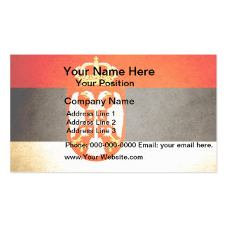 Sun kissed Serbia Flag Double-Sided Standard Business Cards (Pack Of 100)