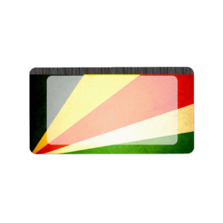 Sun kissed Seychelles Flag Label