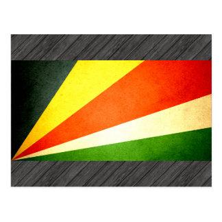 Sun kissed Seychelles Flag Postcard