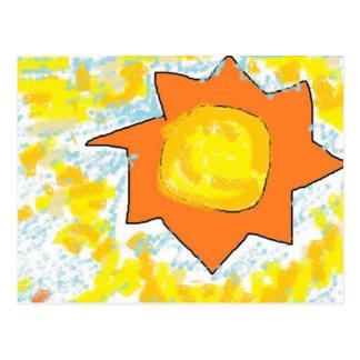 sun kissed sky paint postcard