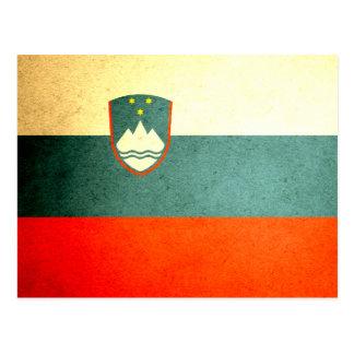 Sun kissed Slovenia Flag Postcard