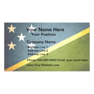 Sun kissed Solomon Islands Flag Business Card