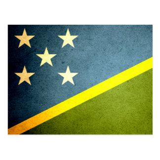 Sun kissed Solomon Islands Flag Postcard