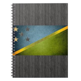 Sun kissed Solomon Islands Flag Spiral Notebook