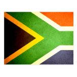 Sun kissed South Africa Flag Postcard
