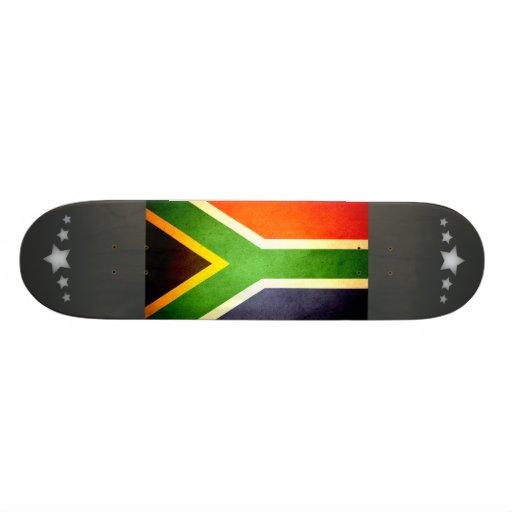 Sun kissed South Africa Flag Skateboard Deck