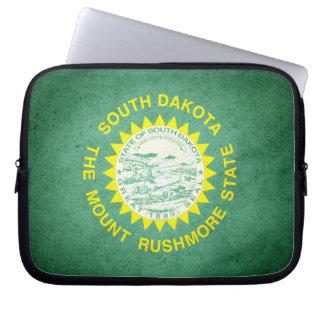 Sun kissed South Dakota Flag Computer Sleeve