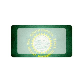 Sun kissed South Dakota Flag Label