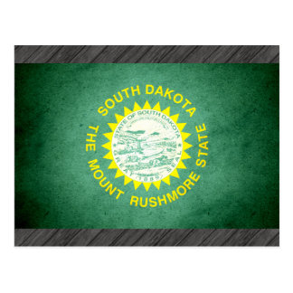 Sun kissed South Dakota Flag Postcard