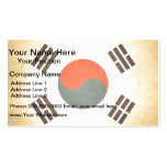 Sun kissed South Korea Flag Business Card Templates