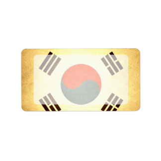 Sun kissed South Korea Flag Label
