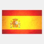 Sun kissed Spain Flag Rectangular Sticker
