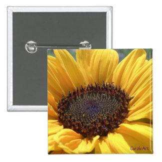 Sun-Kissed Sunflower Button