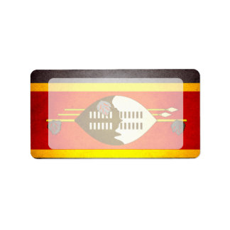 Sun kissed Swaziland Flag Label