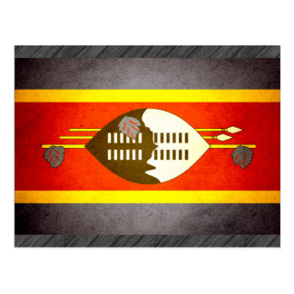 Sun kissed Swaziland Flag Postcard