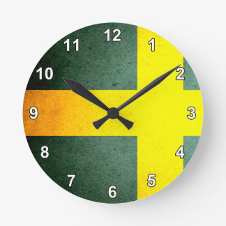 Sun kissed Sweden Flag Round Clock