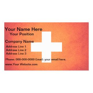 Sun kissed Switzerland Flag Business Card