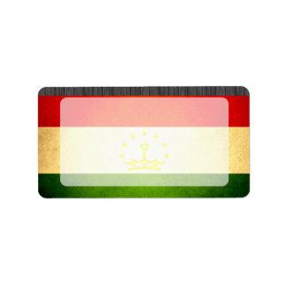 Sun kissed Tajikistan Flag Label