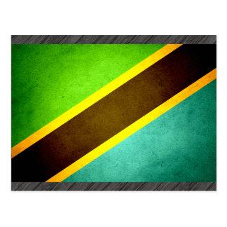 Sun kissed Tanzania Flag Postcard