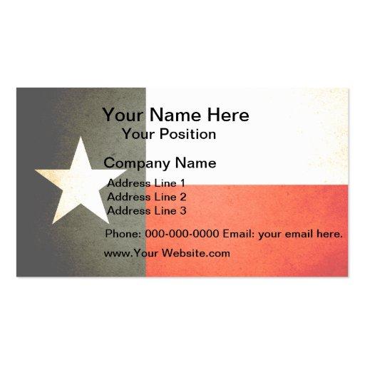 sun kissed texas flag business card template