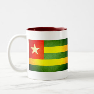 Sun kissed Togo Flag Two-Tone Coffee Mug