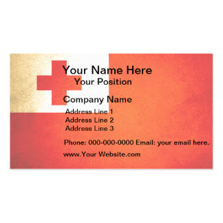 Sun kissed Tonga Flag Business Card