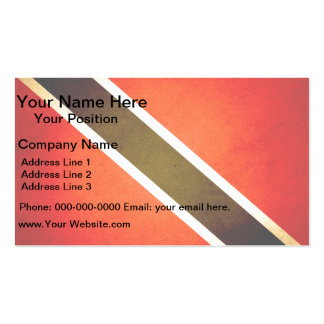 Sun kissed Trinidad and Tobago Flag Business Card